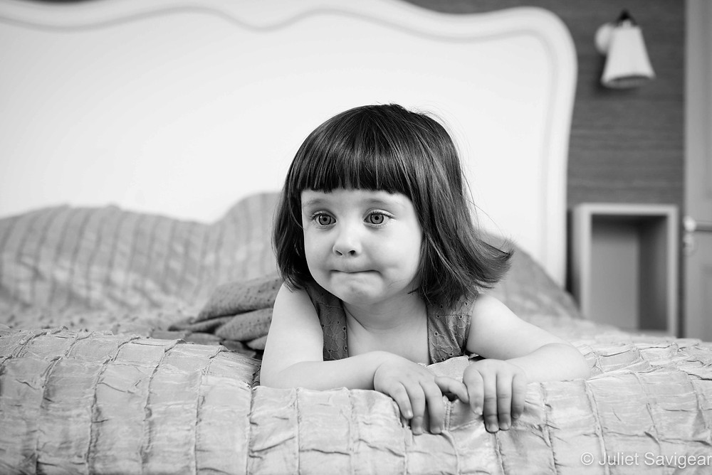 On The Bed - Children's Photography, Wimbledon