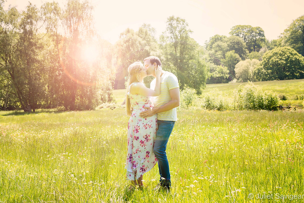 Kiss in the meadow