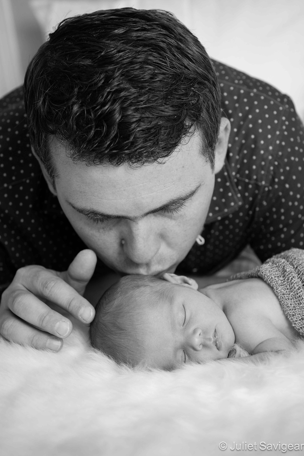 Daddy's Boy - Newborn Baby & Family Photography, Tooting