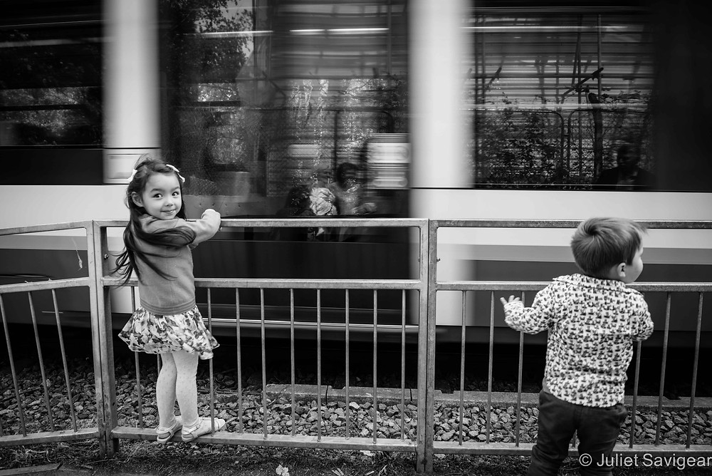 Passing Tram - Children's Photography, Wimbledon