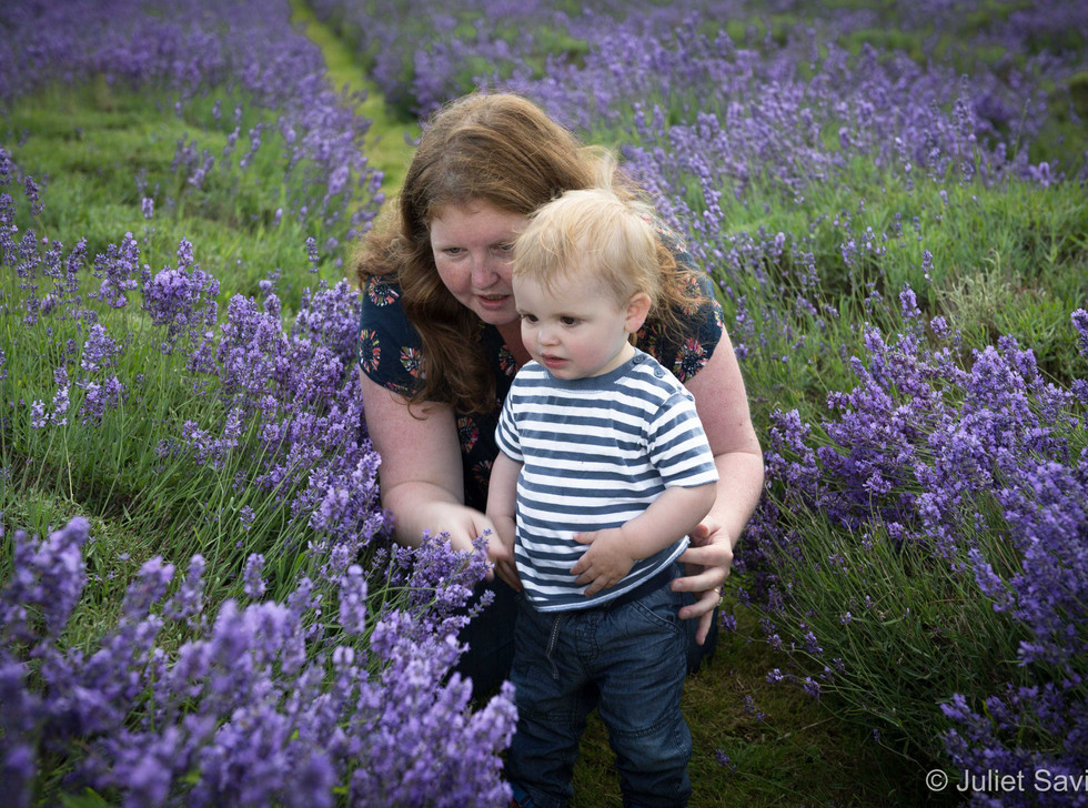 Mother & Son In The Lavender Fields