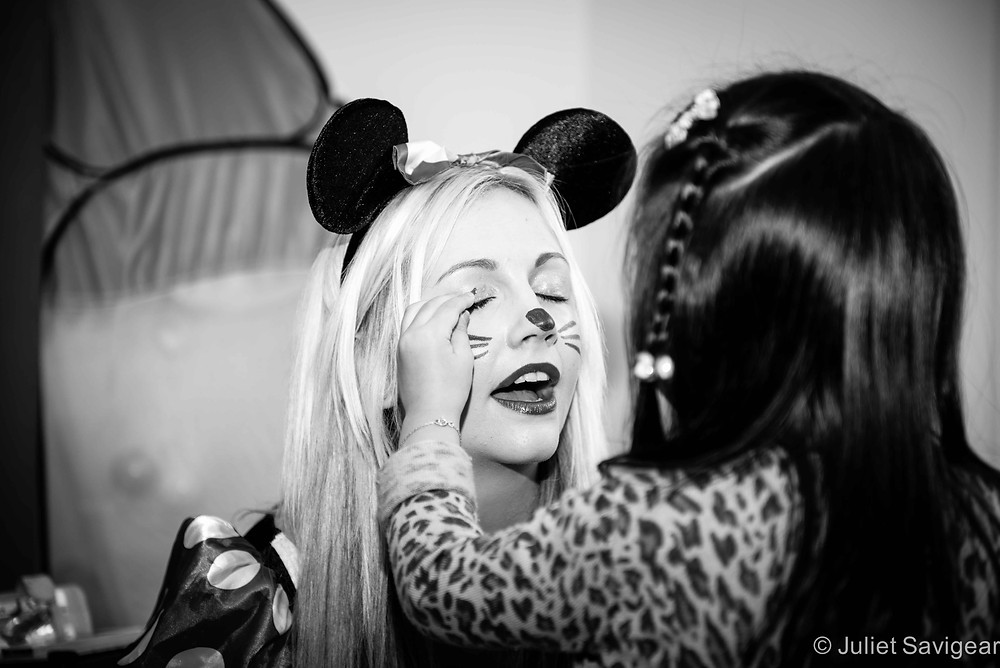 Make Up For Minnie Mouse - Children's Party Photography, St Johns Wood
