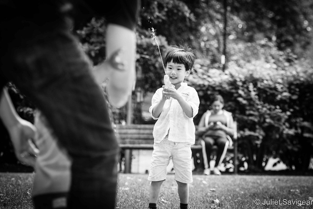 Aiming For Daddy! Family Photography, Wapping, London