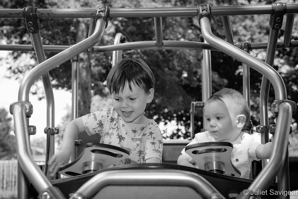 Brothers in the playground