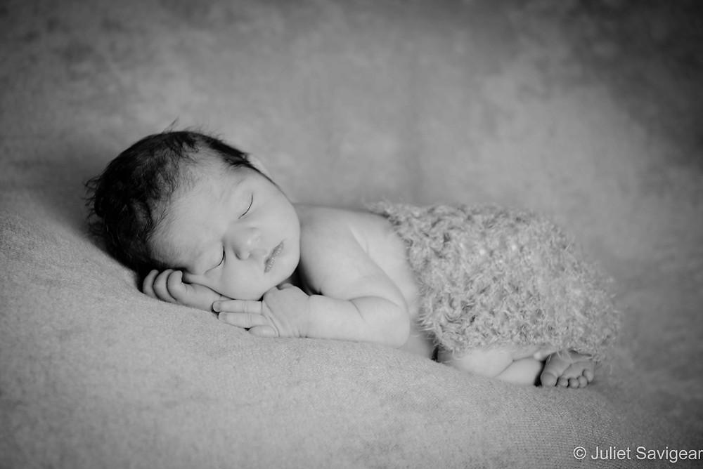Beautiful newborn baby sleeping