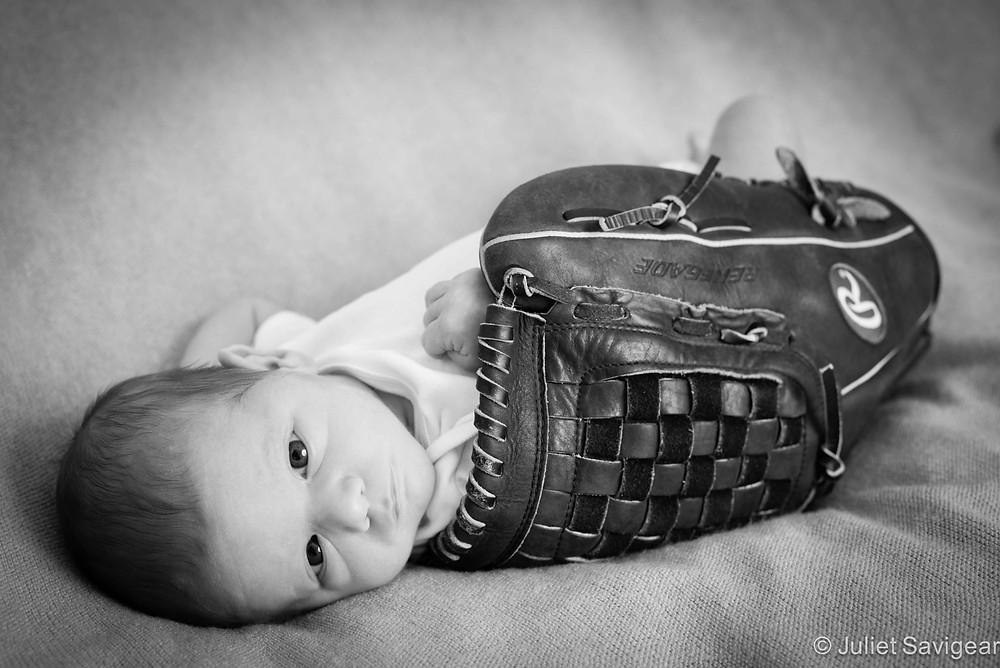Baseball Baby - Newborn Baby Photography, Greenwich