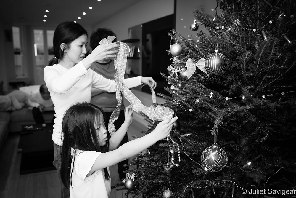 Decorating The Christmas Tree - Children's Photography - Parsons Green