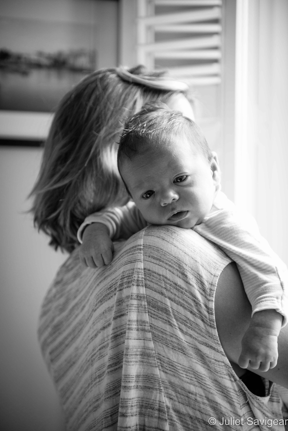 Mummy's Shoulder - Baby Photography, Earlsfield