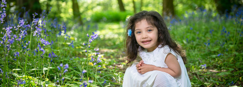 Children's Photography In The Bluebell Woods