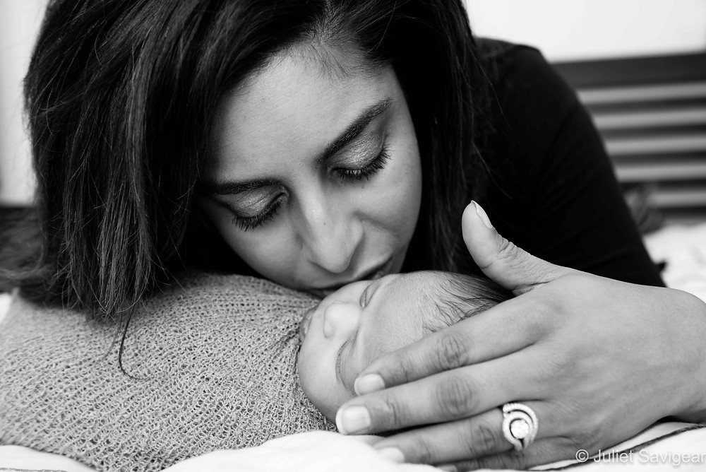 Mother's Kiss - Newborn Baby Photography, Colliers Wood