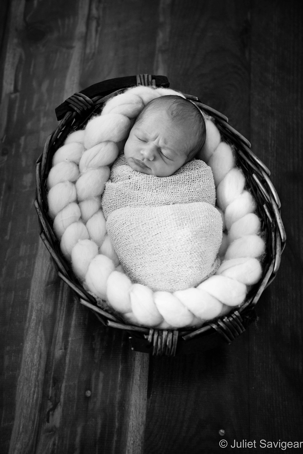 Snuggled Little Baby - Newborn Baby Photography, Earlsfield