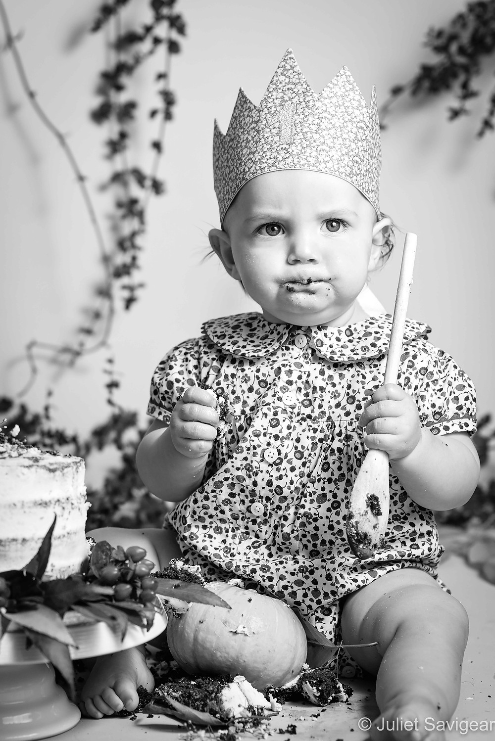 A cake smash is a serious matter