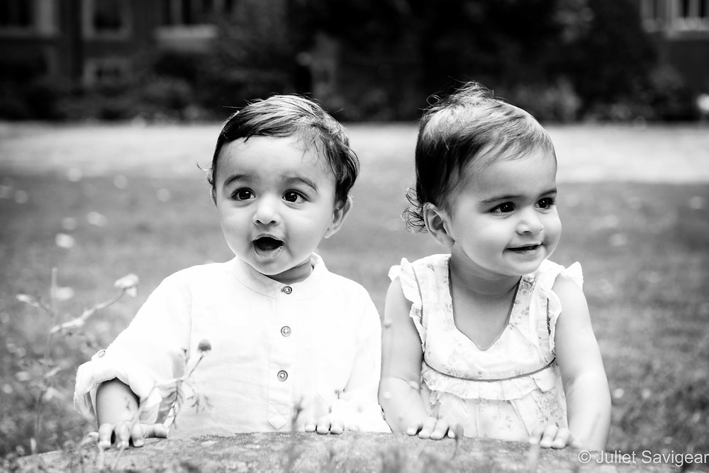 One Year Old Twins - Children's Photography, Victoria, London