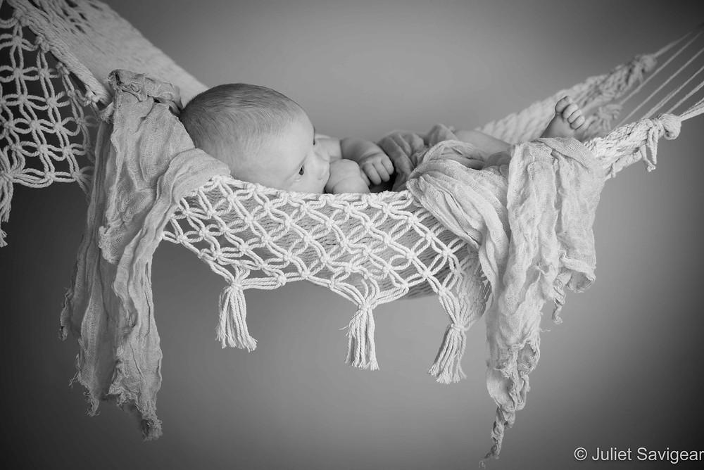 Baby In A Hammock - Newborn Baby Photography, Canary Wharf