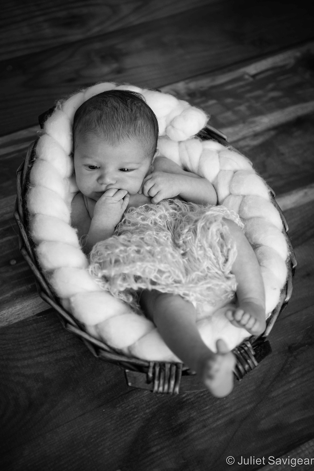 Baby In Basket - Newborn Baby Photography, Ealing