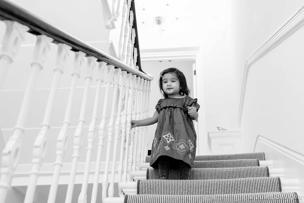 Toddler on the stairs