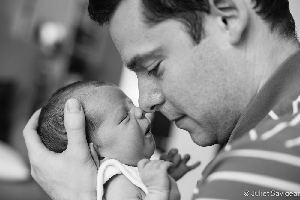 Rubbing noses - newborn baby photography - Putney