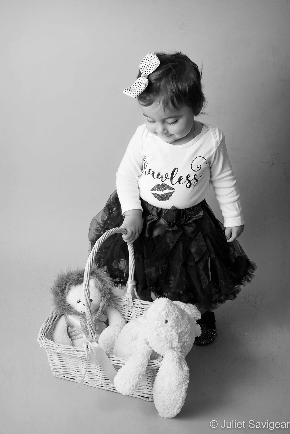 Toys In A Basket - First Birthday Photography, London