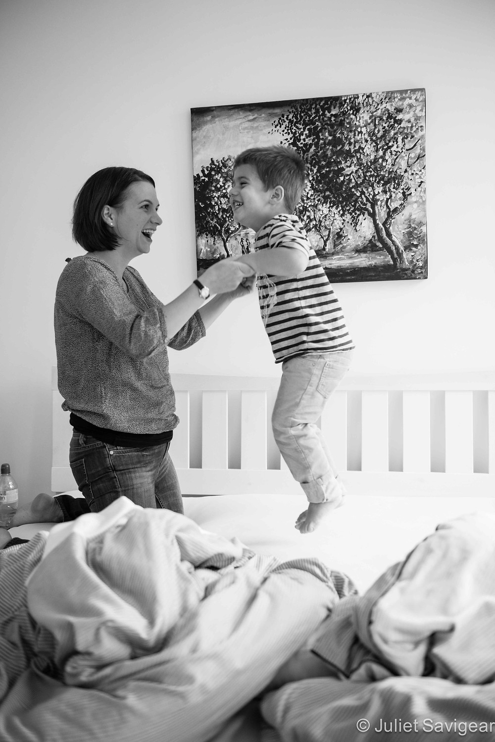 Jumping On The Bed - Family Photo Shoot, Clapham South