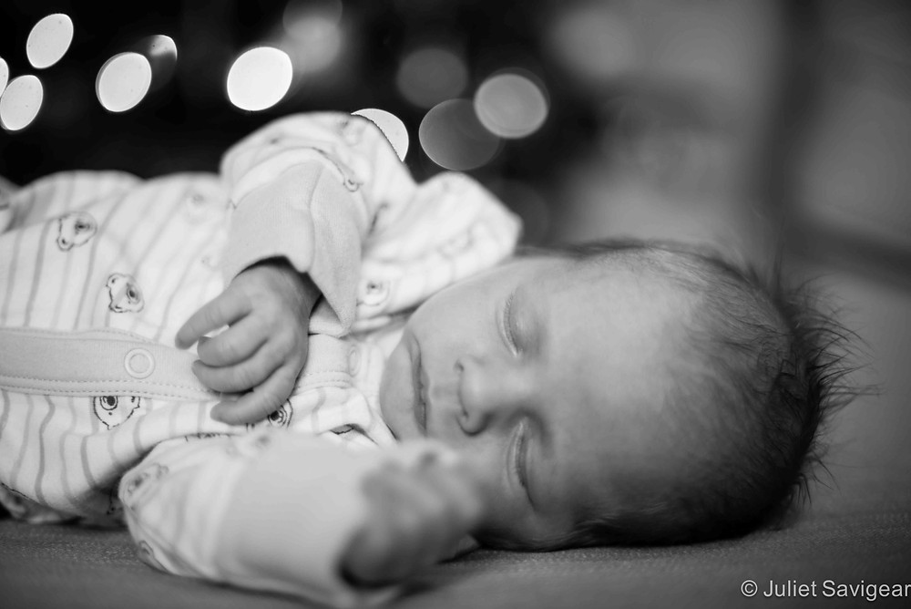 Sleeping Under The Christmas Tree - newborn baby photography, Streatham