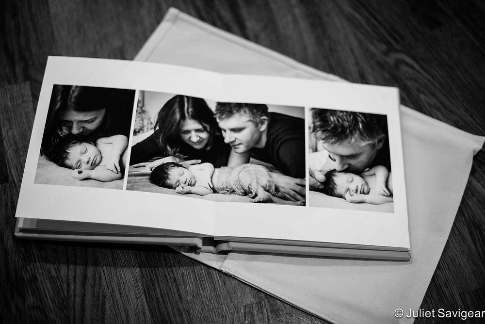Photo Album Spread - Newborn Baby & Family Photography, Battersea