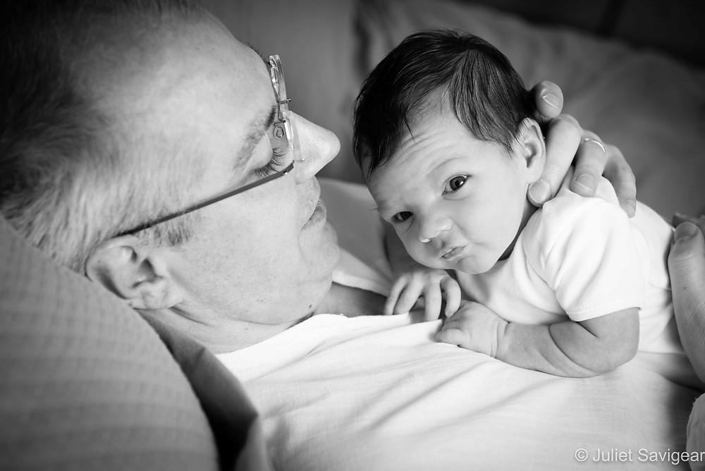 Looking Around - Newborn Baby Photography, Hampstead