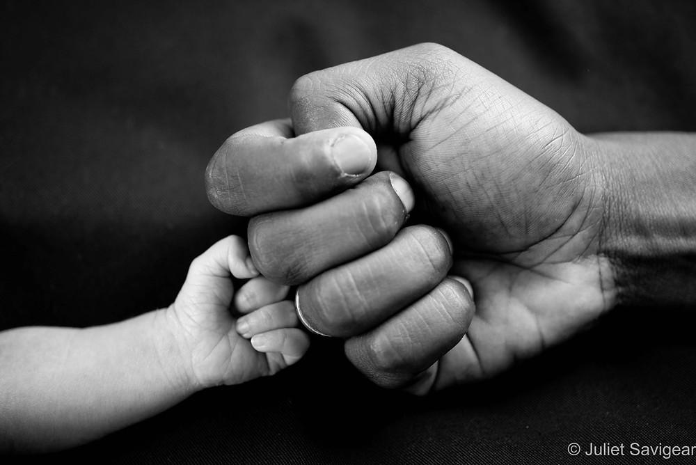 Big Fist, Little Fist - Newborn Baby Photography, Ilford, Essex
