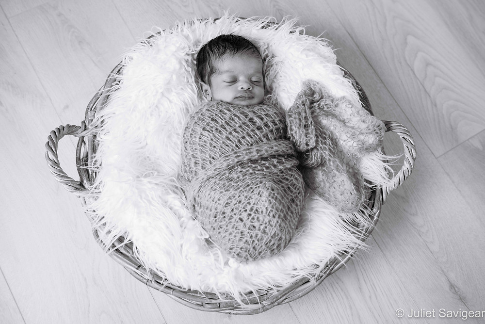 Baby In A Basket - Newborn Baby Photography, Isleworth