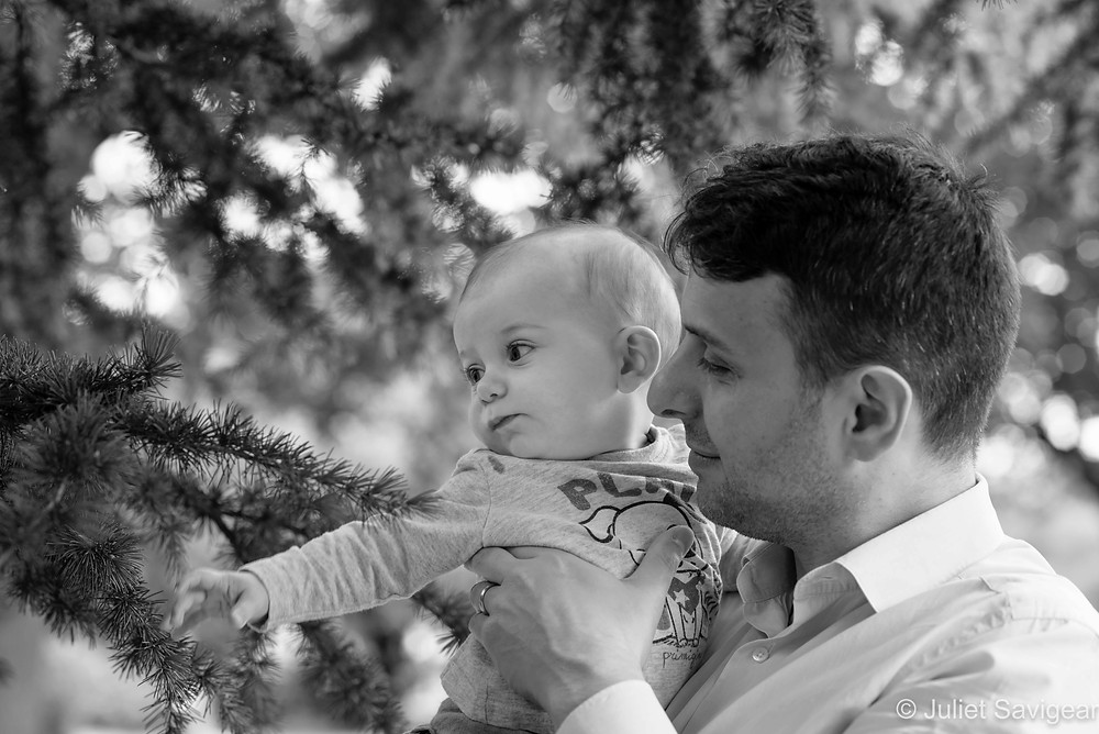 Baby & Father under the tree