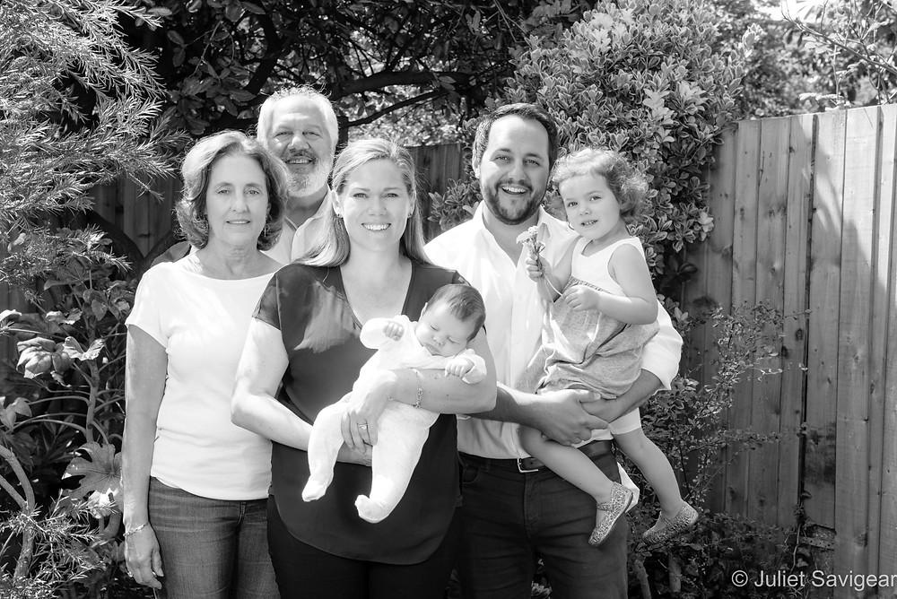 Family photo in the garden