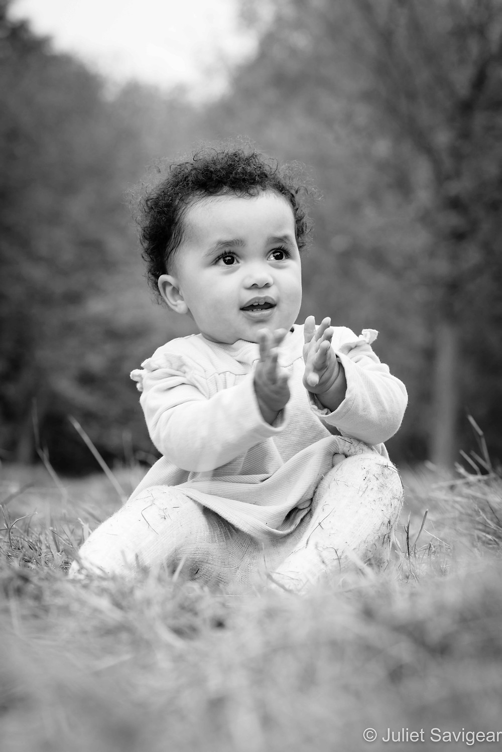 Baby girl clapping