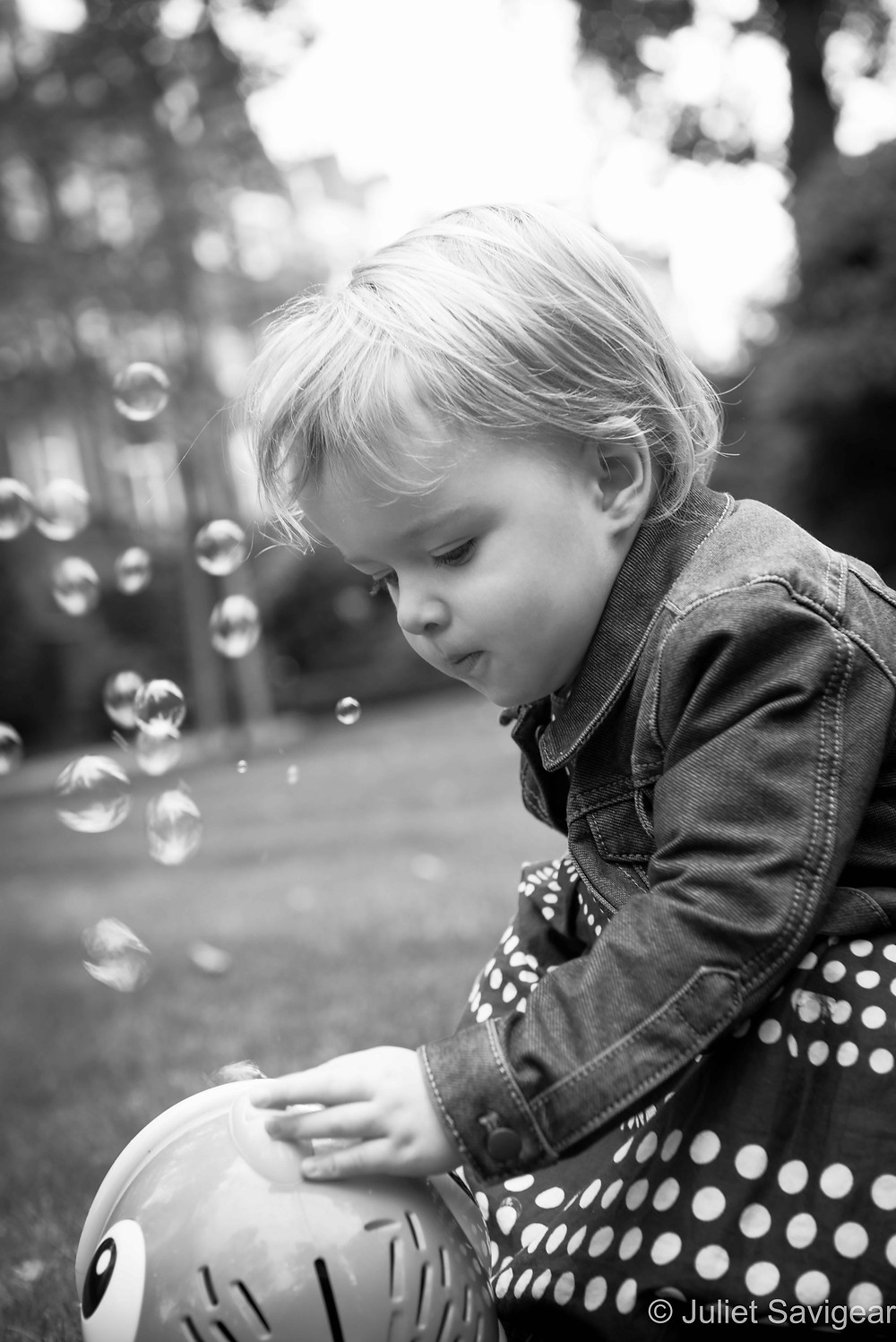 Where Are These Bubbles Coming From - Children's Photography, South Kensington