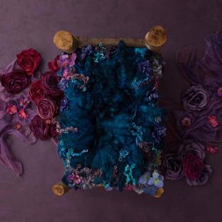 Purple & Blue Cotbed