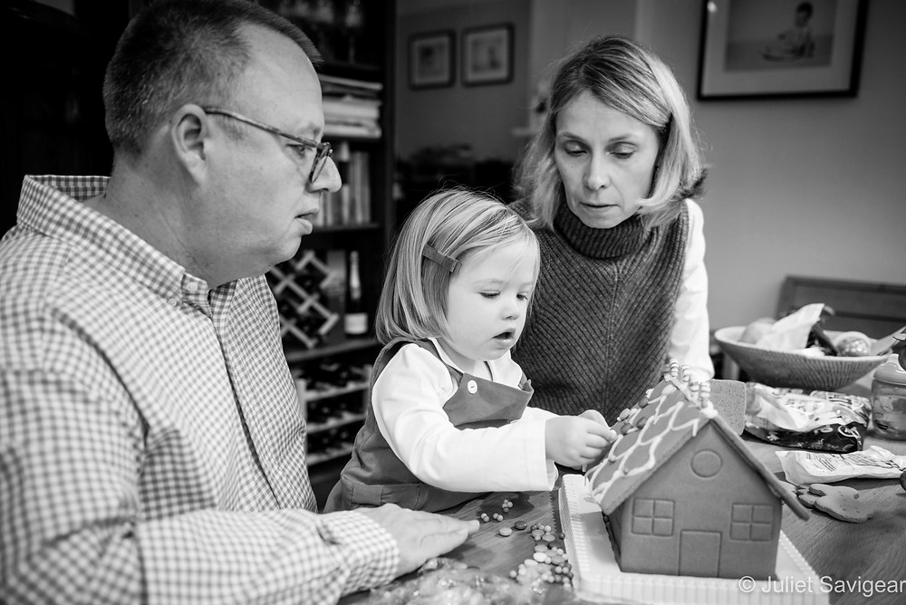 Christmas Gingerbread House - Family Photography, Clapham South