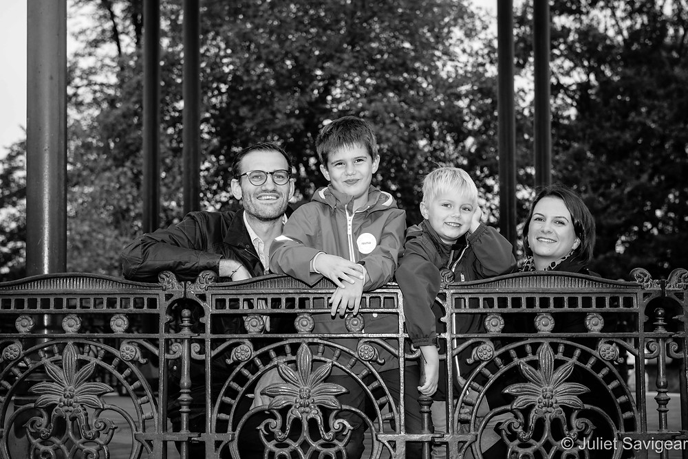 Family photo on Clapham Bandstand