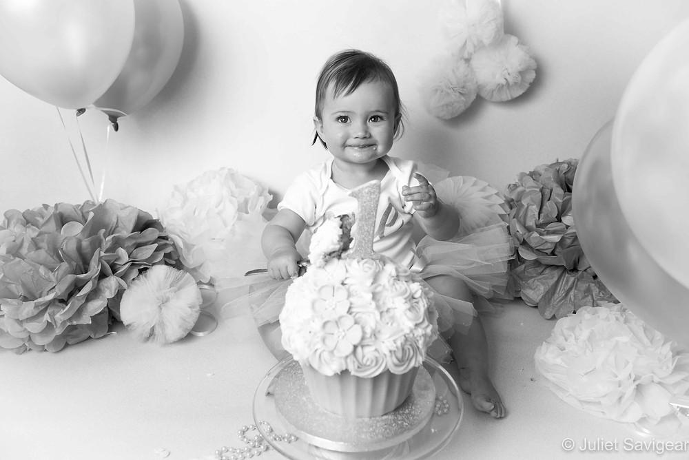 Yummy Cake Smash - First Birthday Photography, Balham