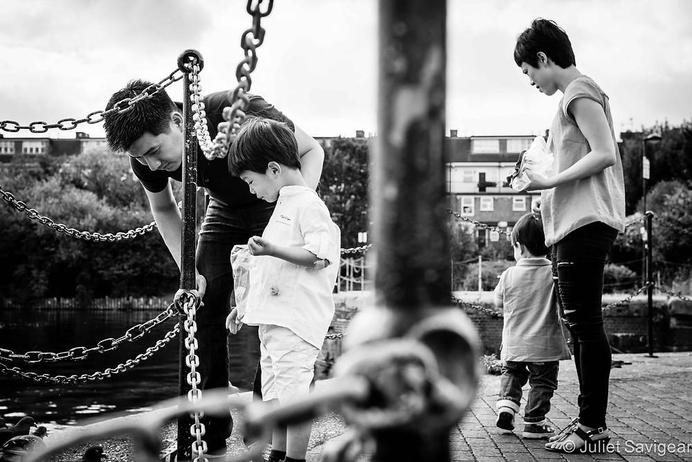 Feeding The Ducks - Family Photography, Wapping, London