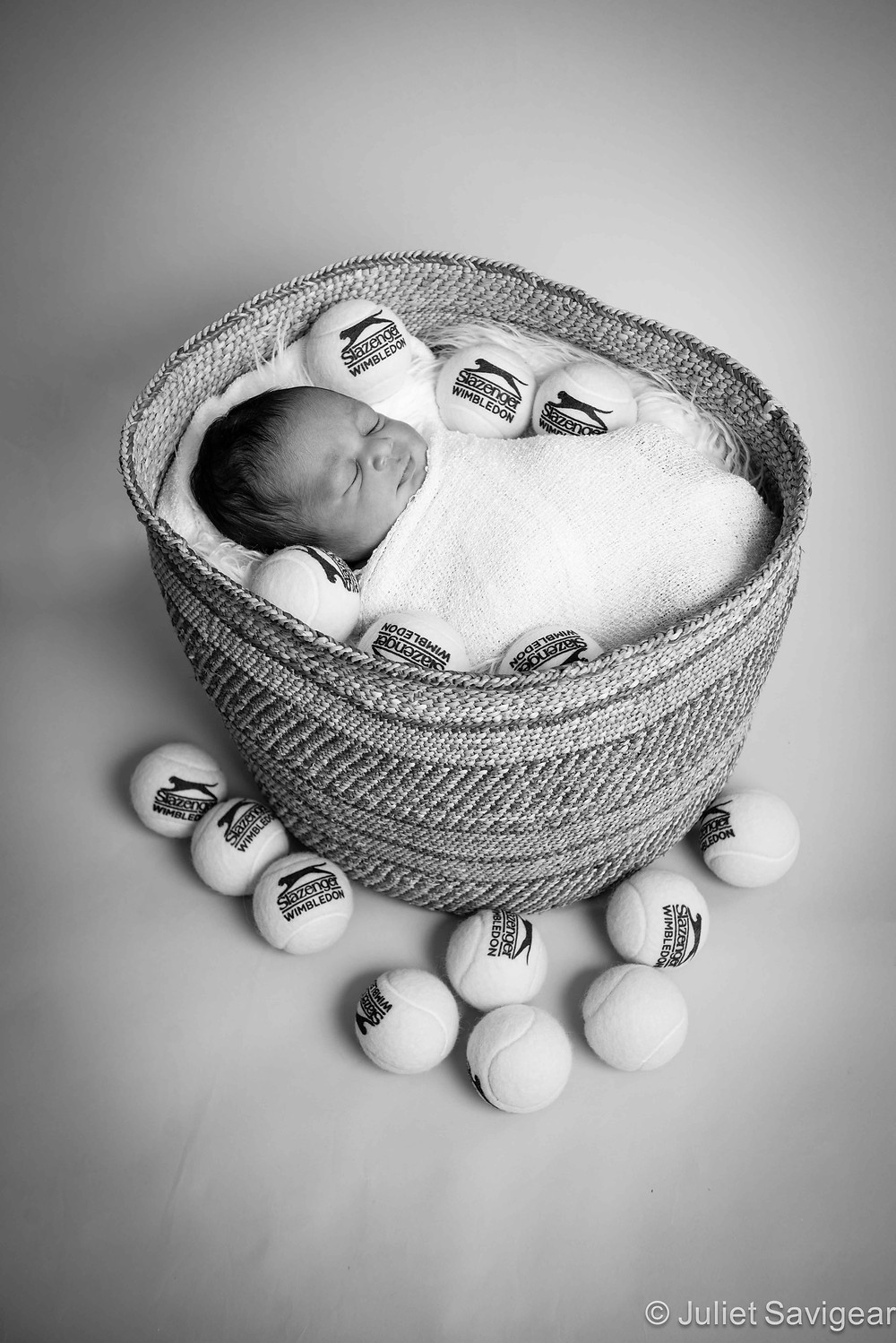 Ball Girl - Newborn Baby Photography, Fulham