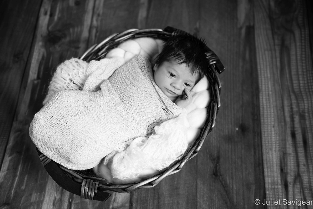 Cosy basket - Newborn Baby Photography, Battersea