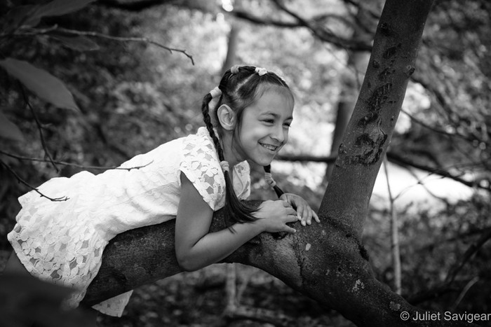 Fun With Autumn Leaves, Climbing Trees And Blackberries - Family Photo Shoot