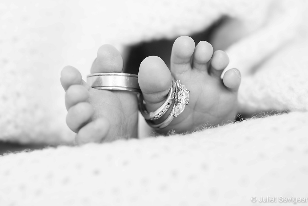 Wedding Rings On Baby Toes