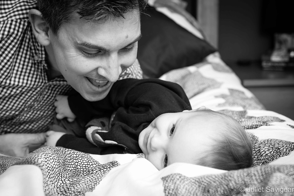 Fun On The Bed - Baby Photography - Ealing