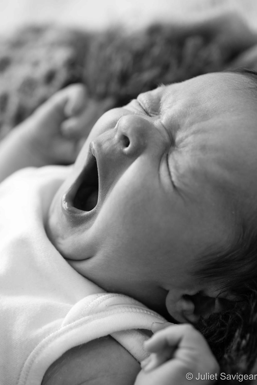 Yawn! Newborn Baby Photography, Battersea