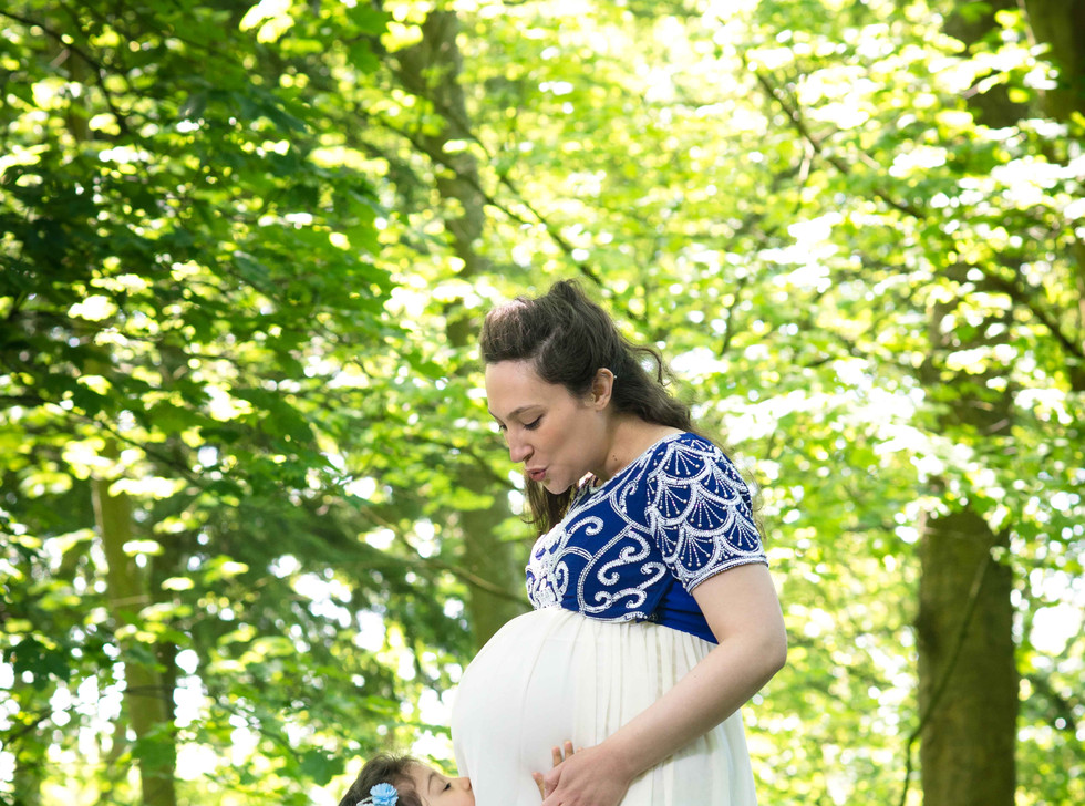 Mother & Child In The Bluebell Woods