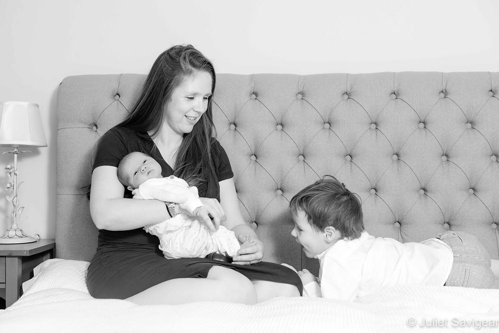 Natural family photography at home
