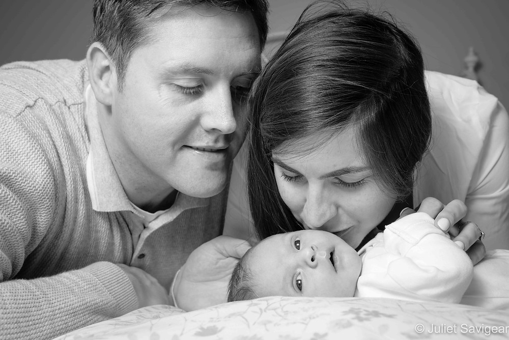 Mummy & daddy with newborn baby