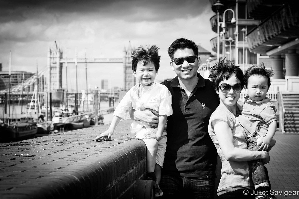 Family Portrait By Tower Bridge - Family Photography, Wapping, London
