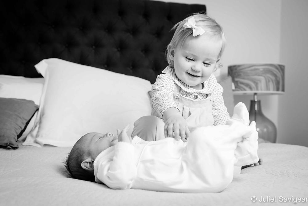 Tickling my baby sister