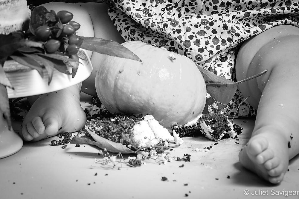 Cake & Pumpkin Mess