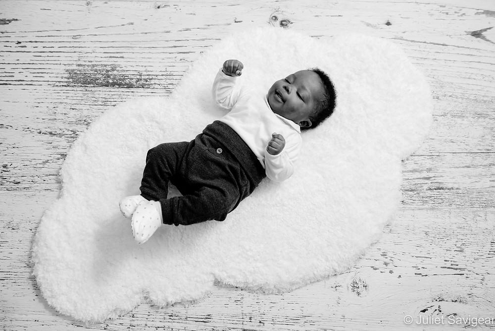 Baby on cloud rug